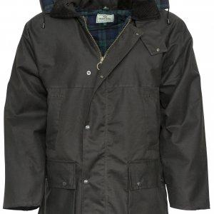 Padded Waxed Jacket (Brown - p34)