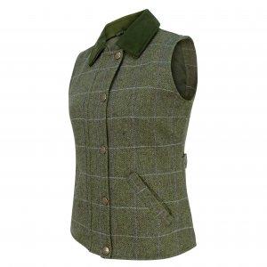 Hoggs of Fife Albany Ladies Lambswool Waistcoat ALTW/GR/18