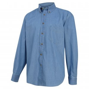Hoggs of Fife Classic Chambray Denim Shirt CDST/BL/5