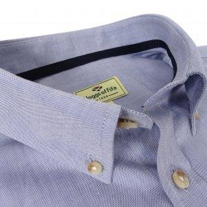 Hoggs of Fife Dunedin Oxford Shirt DUNE/BL/6