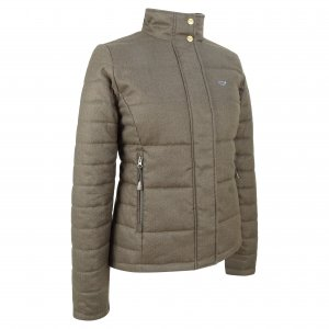 Hoggs of Fife Elgin Ladies Quilted Herringbone Jacket ELLJ/GR/18