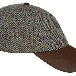 Hoggs of Fife Harris Tweed Baseball Cap HABB/GR/1
