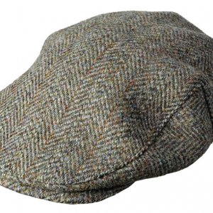 Hoggs of Fife Harris Tweed Menss Cap HATC/GR/4