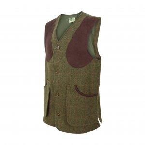 Hoggs of Fife Harewood Lambswool Tweed Shooting Vest HAWC/GR/5