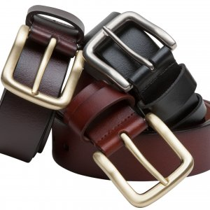 Hoggs of Fife Hoggs Luxury Leather Belt LEBT/BK/4