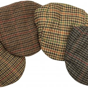 Hoggs of Fife Harris Tweed Flat Cap